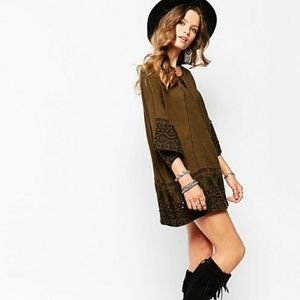 $200 Free People Counting Stars Embroidered Tunic